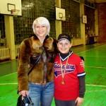 Kauno beisbolo fanė Eglė su Tadu